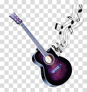 black guitar PNG