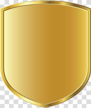 Badge , Golden shining shield PNG