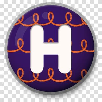 letter H illustration, Letter H Festive Roundlet PNG clipart