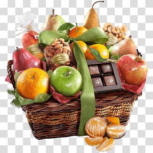 Food Gift Baskets Fruit Orchard, fruit basket PNG clipart