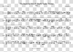 The Imperial March Trumpet Sheet Music Music of Star Wars Star Wars (soundtrack), Trumpet PNG clipart