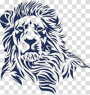 Lion's Head Logo , lion, lion stencil art PNG