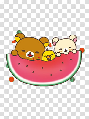 Rilakkuma Pancake Watermelon Desktop Kawaii, watermelon PNG clipart