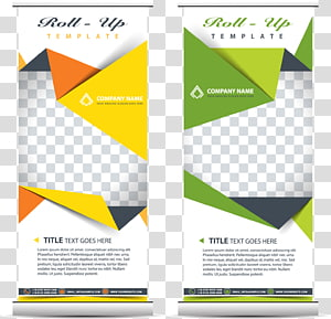 two Roll-Up template boxes, Printing Advertising Standee Communication design, x display rack template PNG clipart