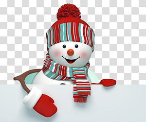 cute christmas snowman PNG clipart