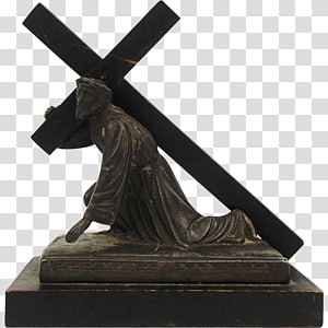 Crucifix Religion Christian cross Christianity Bronze sculpture, christian cross PNG clipart