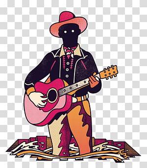 Poster Music Illustration, Black guitar PNG