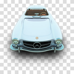 white Mercedes-Benz car, classic car automotive exterior sports car brand, Mercedes PNG clipart