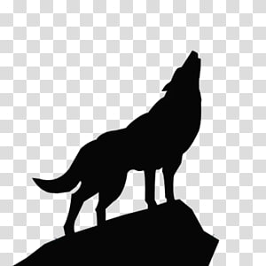 silhouette of wolf , Gray wolf Stencil graffiti , Wolf Totem Wolf PNG