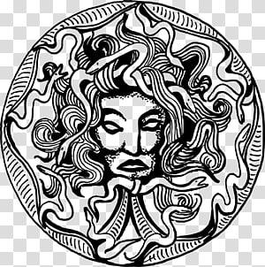 Medusa Gorgoneion Greek mythology, Indianer PNG