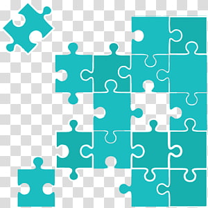 teal jigsaw puzzle illustration, Jigsaw Puzzles Puzzle video game, puzzle pattern PNG