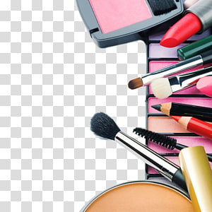 assorted cosmetics, Cosmetics Eye shadow, Color eye shadow and make-up tools PNG clipart