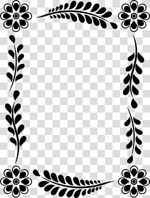 Leaf Flower Floral design Frames , leaf decoration box PNG