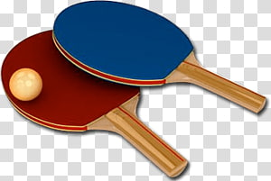 of pair of blue and red buckam and pingham, Ping Pong Bats PNG