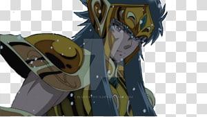 Aquarius Camus Scorpio Milo Character, Saint Seiya Soul Of Gold PNG clipart