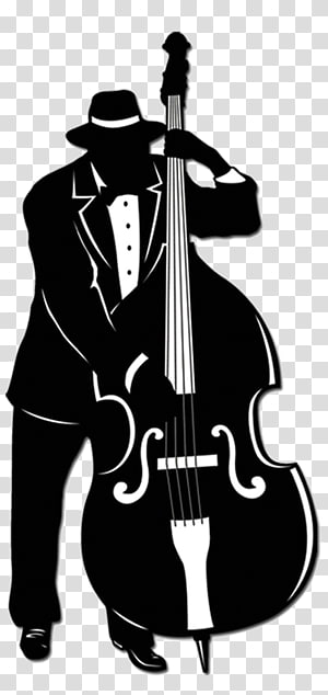 Jazz trio Jazz band Music Double bass, Silhouette PNG