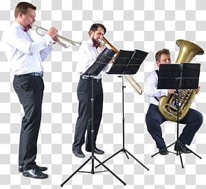 Trumpet Trombone Musician Musical ensemble Architecture, Street walk PNG
