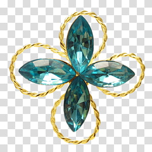 Earring Jewellery Brooch Turquoise, Emerald Jewelry PNG clipart