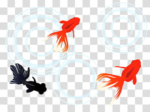 New Year card Encapsulated PostScript, Goldfish Swimming PNG clipart