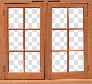 Window Wood Framing Lumber Door, Wood window PNG