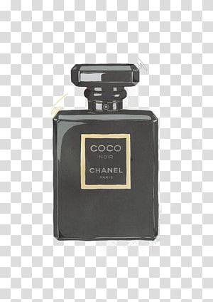 Chanel Coco Noir perfume bottle, Chanel No. 5 Coco Mademoiselle Perfume, Chanel perfume bottle PNG clipart