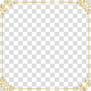 golden lace frame PNG clipart