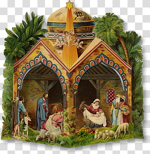 Nativity scene Paper model Christmas Nativity of Jesus, christmas PNG clipart