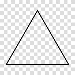 triangle illustration, Equilateral triangle Isosceles triangle Shape Geometry, TRIANGLE PNG