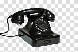 black rotary phone, Telephone call Mobile Phones Home & Business Phones Ringing, Siemens Old Phone PNG clipart