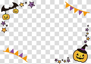 Simple Happy Halloween Frame., others PNG