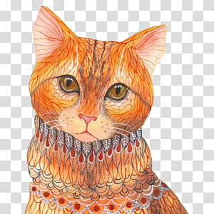 Ola Liola Watercolor painting Illustrator Art Illustration, Cat painting pattern material PNG