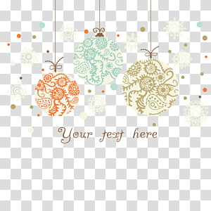 assorted-color floral baubles illustration, Santa Claus Père Noël Christmas card Greeting card, Christmas decoration PNG clipart