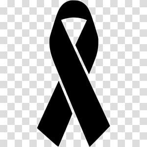 Black ribbon Awareness ribbon Pink ribbon Red ribbon, ribbon PNG clipart