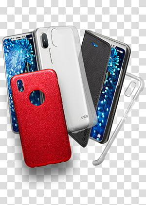 silver Android smartphone with cases, iPhone 4 iPhone X Battery charger Mobile Phone Accessories Telephone, phone case PNG