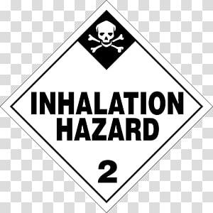 Plastic bag Dangerous goods HAZMAT Class 2 Gases Placard Hazard, placard PNG clipart