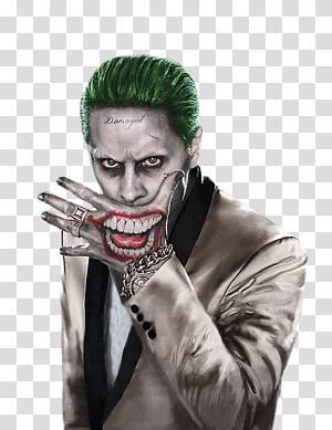 The Joker ilustration, Jared Leto Joker Harley Quinn Suicide Squad Batman, joker PNG clipart