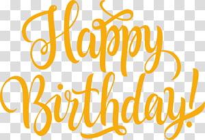 happy birthday illustration, Wedding invitation Birthday Greeting card Anniversary Wish, Khaki flat Happy Birthday English words PNG clipart