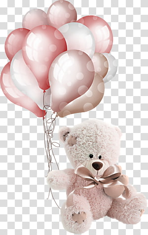 bear plush toy holding set of balloons illustration, Birthday Frames Gift Holiday Jigsaw Puzzles, watercolor balloon PNG clipart