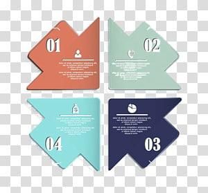 four assorted-color arrows illustration, Euclidean Element, Arrow ppt element material PNG clipart