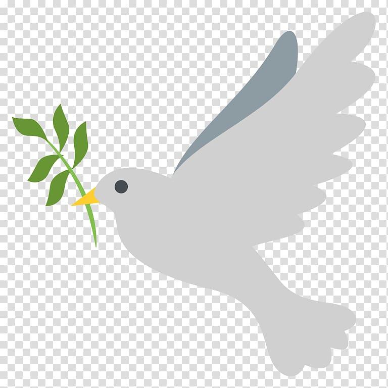 Emoji Peace Doves as symbols Columbidae Bird, Emoji PNG