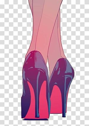 High-heeled footwear Drawing Shoe Converse Boot, bottom PNG