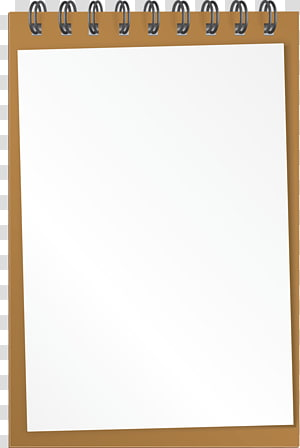 book notepad PNG