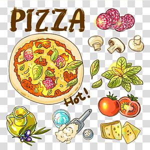 Pizza Italian cuisine Fast food Tomato, Delicious Pizza PNG clipart