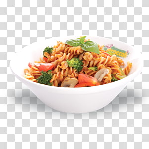 Lo mein Chinese noodles Spaghetti alla puttanesca Chow mein Pasta, fried chicken PNG