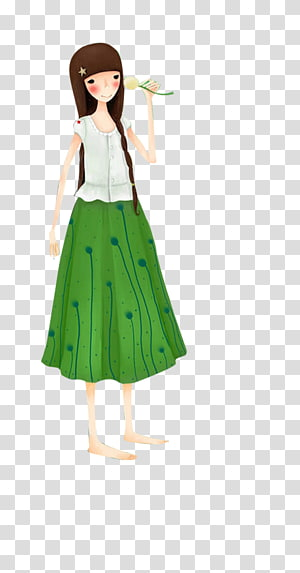 Girl Doll, Cute girl PNG clipart
