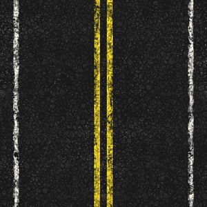 whit and yellow lines, Road Asphalt concrete Transportation planning, road PNG clipart
