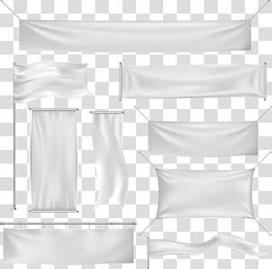Banner Euclidean Silk, Background banner , white banner illustration lot PNG