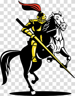 Horse Lance Knight Equestrian, horse PNG clipart