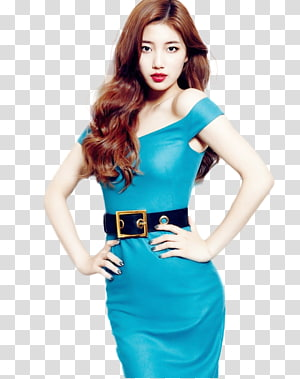 woman wearing blue off-shoulder dress holding her waist, Bae Suzy South Korea Miss A K-pop Desktop , miss PNG