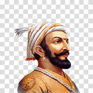 man wearing yellow top illustration, Chhatrapati Shivaji Maharaj Maratha Empire Maharashtra Mughal Empire, others PNG